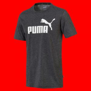 Футболка Essentials+ Heather Tee PUMA. Цвет: черный
