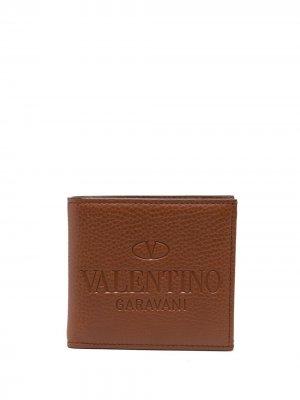 Картхолдер с тисненым логотипом Valentino Garavani. Цвет: коричневый
