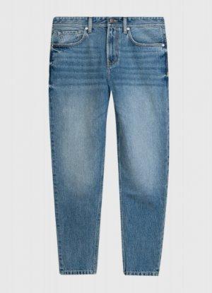 Широкие синие джинсы O`Stin. Цвет: светло-синий