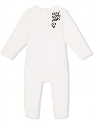 Комплект для новорожденного с логотипом Dolce & Gabbana Kids. Цвет: белый