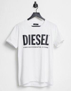 Белая футболка с логотипом -Белый Diesel
