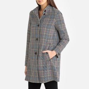 Пальто в клетку средней длины BUXTON SESSUN. Цвет: в клетку