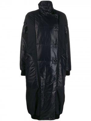 Стеганая парка оверсайз с высоким воротником Givenchy. Цвет: черный