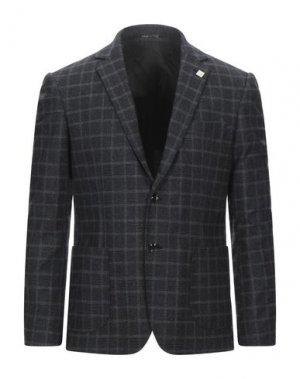 Пиджак EXIBIT. Цвет: стальной серый