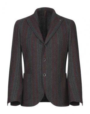 Пиджак LABORATORI ITALIANI. Цвет: свинцово-серый