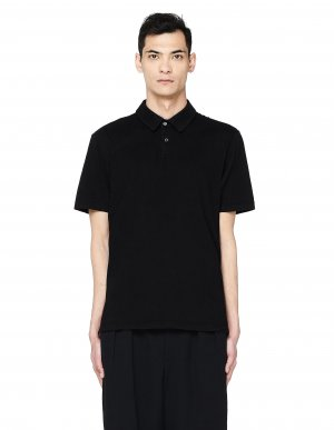 Черная футболка-поло James Perse