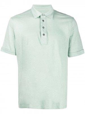 Рубашка поло с короткими рукавами Ermenegildo Zegna. Цвет: зеленый