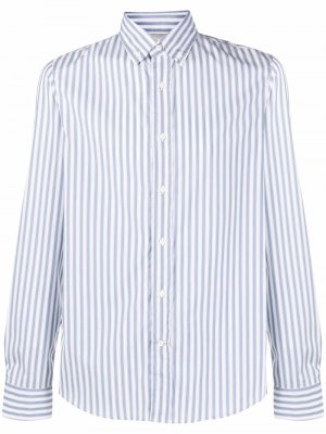 Striped button-down shirt Brunello Cucinelli. Цвет: синий