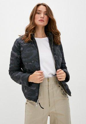 Куртка кожаная Blouson MARY. Цвет: разноцветный