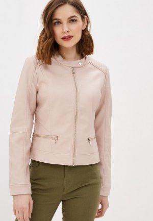 Куртка кожаная Pimkie. Цвет: розовый