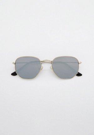 Очки солнцезащитные WOW Miami. Цвет: серебряный