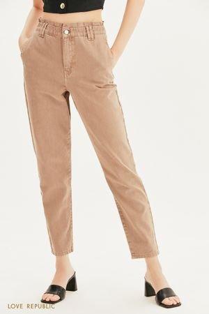 Прямые джинсы с эластичным поясом LOVE REPUBLIC