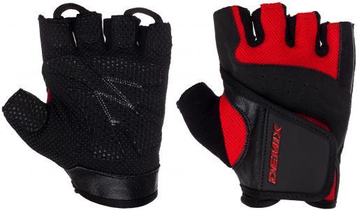 Перчатки для фитнеса Demix. Цвет: красный