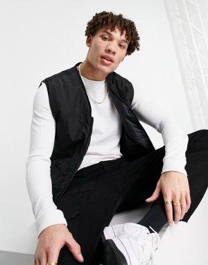 Черный жилет в утилитарном стиле с карманами -Черный цвет New Look