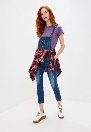 Комбинезон джинсовый Katomi. Цвет: синий