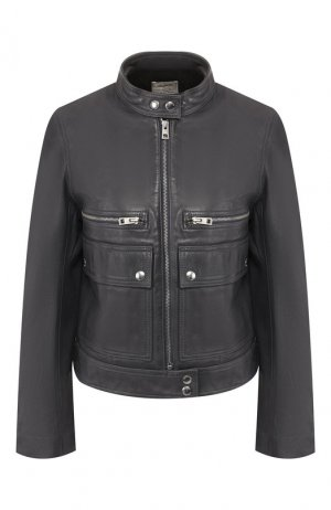 Кожаная куртка Zadig&Voltaire. Цвет: темно-синий