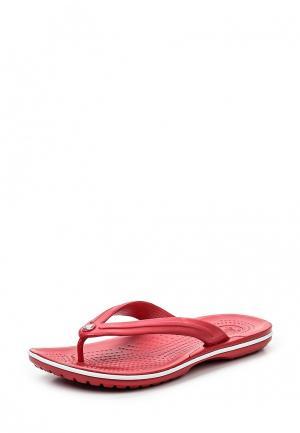 Сланцы Crocs. Цвет: красный