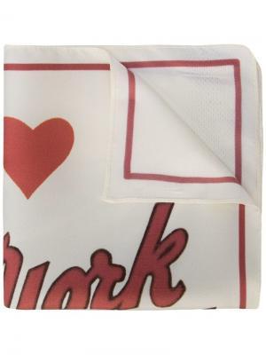 Шарф с принтом открытки New York Amélie Pichard. Цвет: красный