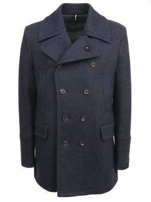 Пальто-бушлат из шерсти LARDINI