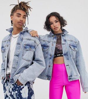 Светлая джинсовая куртка COLLUSION Unisex-Синий