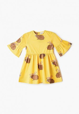 Платье Mini Rodini. Цвет: желтый
