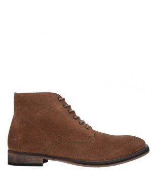 Полусапоги и высокие ботинки FRANK WRIGHT. Цвет: коричневый