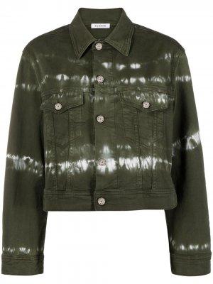 Джинсовая куртка с принтом тай-дай P.A.R.O.S.H.. Цвет: зеленый