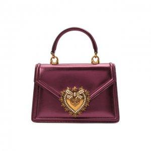 Сумка Devotion small Dolce & Gabbana. Цвет: фиолетовый