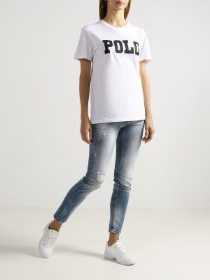 Укороченные джинсы Ice Play. Цвет: goluboy