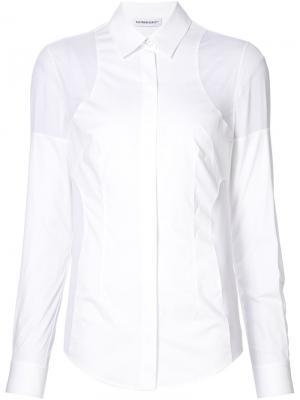 Рубашка с панельным дизайном Kaufmanfranco. Цвет: белый