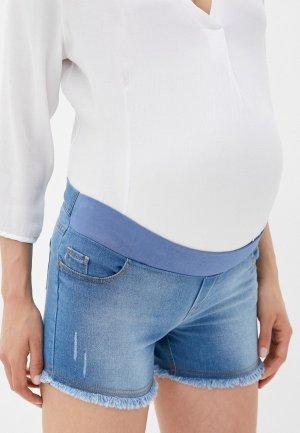 Шорты джинсовые Mams Mam's. Цвет: голубой