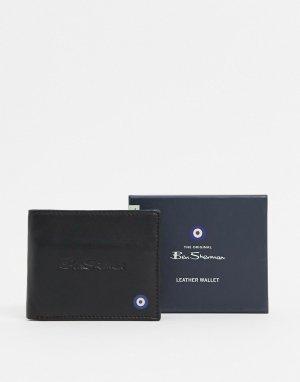 Кожаный кошелек с RFID-чипом -Черный Ben Sherman