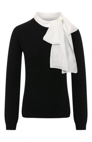 Пуловер из смеси шерсти и кашемира Valentino. Цвет: черно-белый