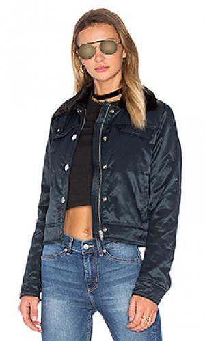 Куртка с воротником из искусственного меха plot Cheap Monday. Цвет: синий