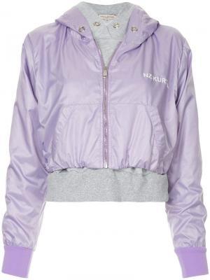 Куртка-бомбер с капюшоном Natasha Zinko. Цвет: фиолетовый