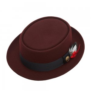 Шляпа поркпай CHRISTYS. Цвет: бордовый