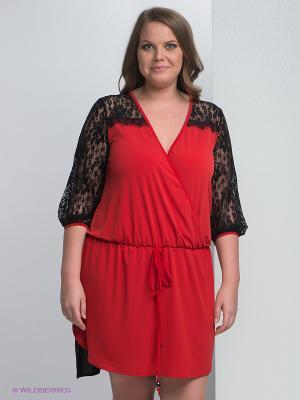 Платье Giani F. Цвет: черный, красный