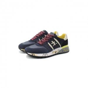 Комбинированные кроссовки Lander Premiata. Цвет: синий