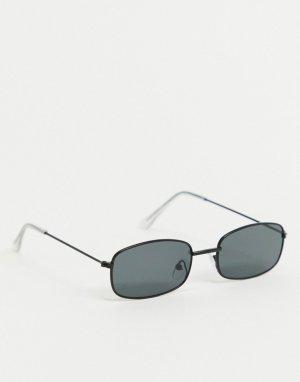 Солнцезащитные очки в квадратной черной оправе -Черный цвет SVNX