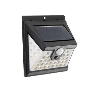 Светильник уличный с датчиком движения, солнечная батарея, 180 градусов, 7 вт, 40 led, 6500к Luazon Lighting