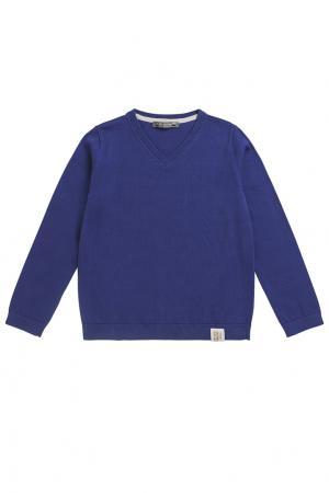 Синий пуловер Bonpoint. Цвет: голубой