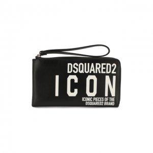 Кожаный кошелек Dsquared2. Цвет: чёрный