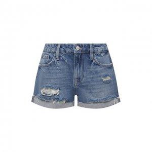 Джинсовые шорты Frame Denim. Цвет: синий