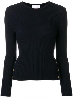 Пуловер в рубчик с полосками Thom Browne