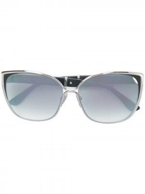 Массивные солнцезащитные очки Jimmy Choo Eyewear. Цвет: золотистый