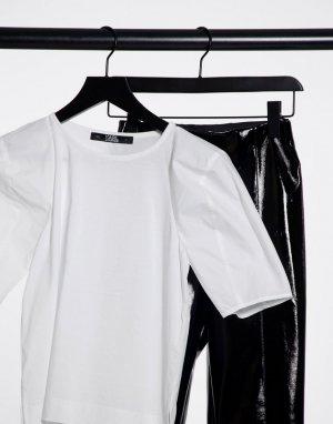 Белая футболка с объемными рукавами -Белый Karl Lagerfeld