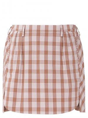 Шелковая юбка-мини в клетку AGNONA