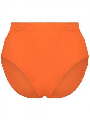 Плавки бикини с завышенной талией Eres. Цвет: оранжевый