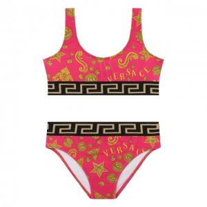 Раздельный купальник Versace. Цвет: розовый