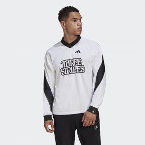 Лонгслив Goalie Athletics adidas. Цвет: белый